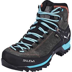 Salewa MTN Trainer Mid GTX Shoes Women Magnet/Viridian Green